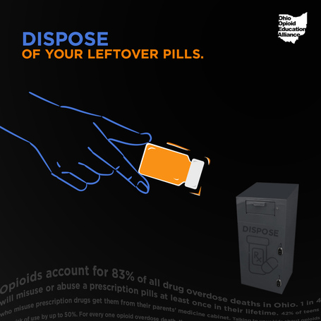 Dispose of Your Leftover Pills Black - Instagram